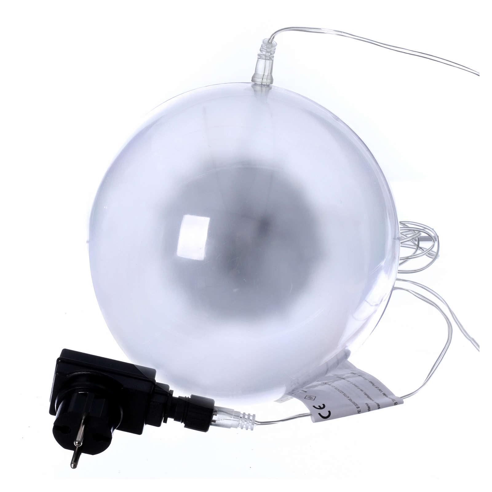 Sfera luminosa giochi luce 48 led diam. 20 cm per interno 3