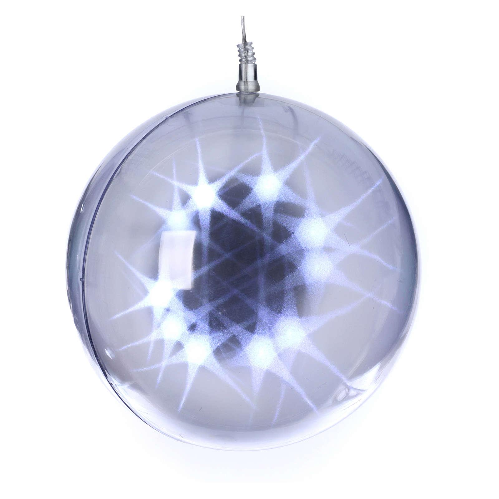 Illuminated sphere with light games 48 leds diam. 20 cm internal use 3