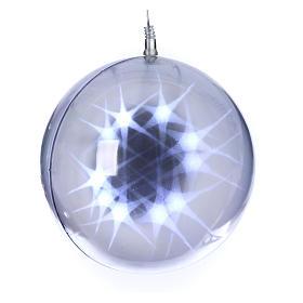Illuminated sphere with light games 48 leds diam. 20 cm internal use s1