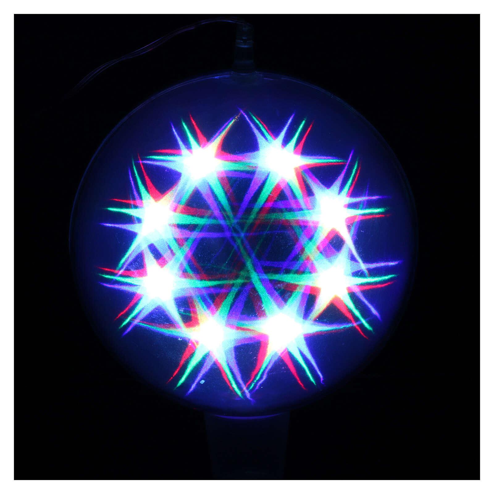 Luz navideña esfera 48 led coloreados diam. 20 cm uso interno 3