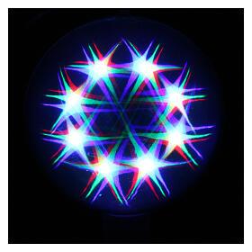 Luce natalizia sfera 48 led colorati diam. 20 cm uso interno s2