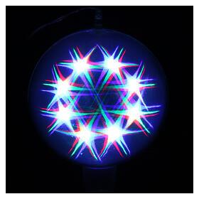 Luce natalizia sfera 48 led colorati diam. 20 cm uso interno s4