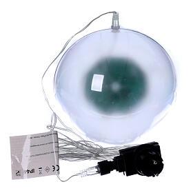 Luce natalizia sfera 48 led colorati diam. 20 cm uso interno s5