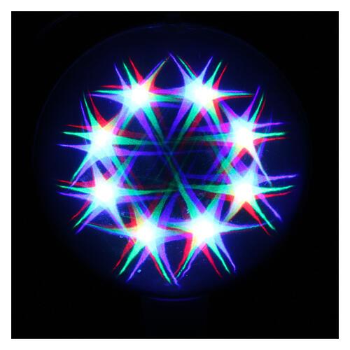 Luce natalizia sfera 48 led colorati diam. 20 cm uso interno 2
