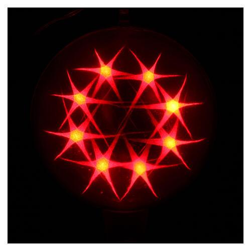 Luce natalizia sfera 48 led colorati diam. 20 cm uso interno 3