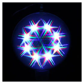 Christmas sphere light 48 leds 20 cm diameter internal use s4