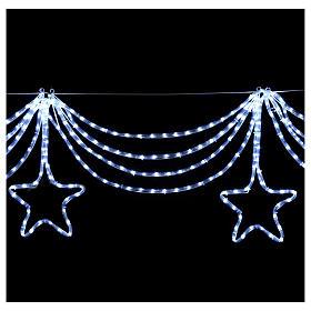 Luz festón estrellas 576 led hielo interior exterior s4