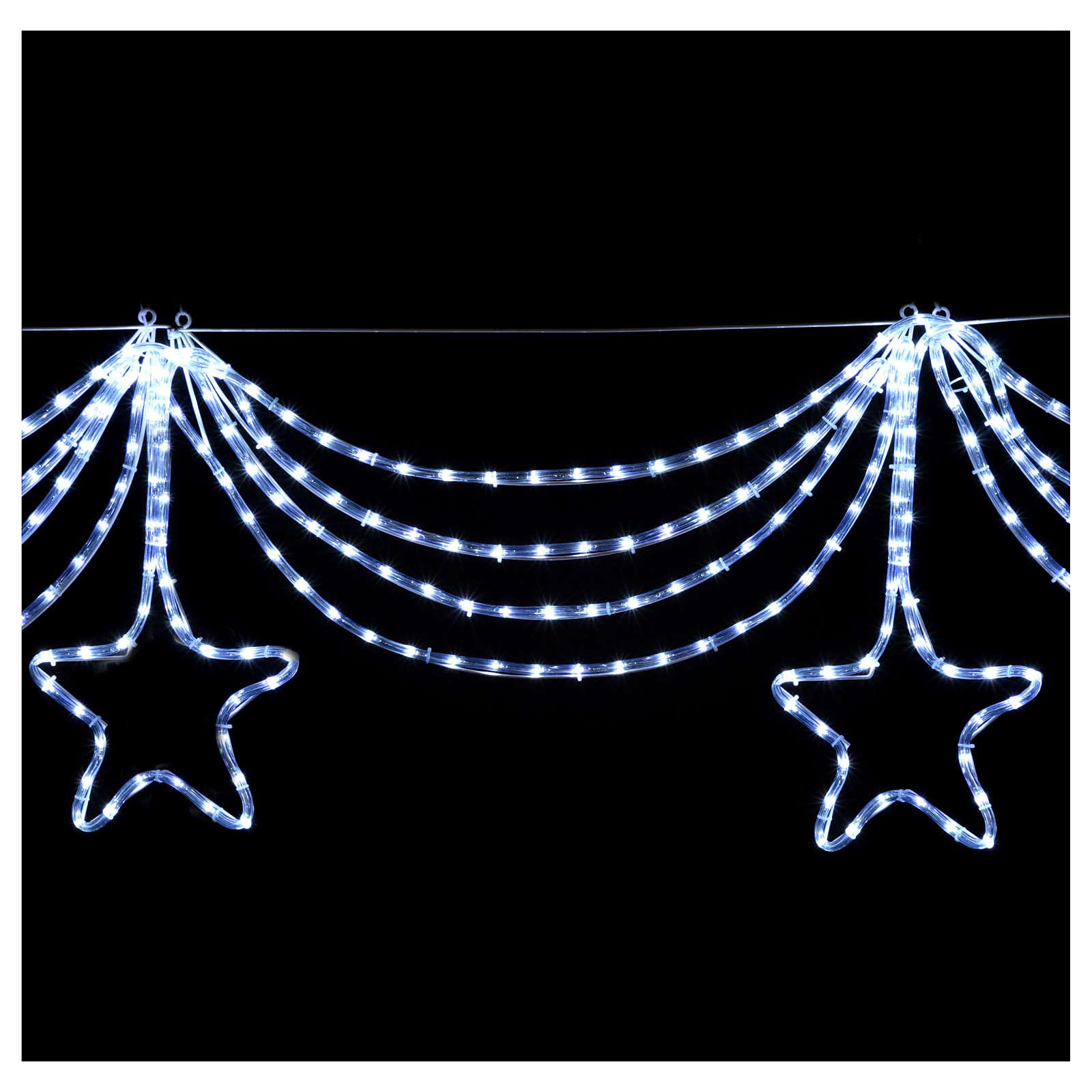 Luce festone stelle 576 led ghiaccio interno esterno 3