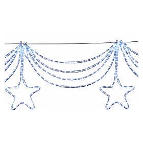 Luce festone stelle 576 led ghiaccio interno esterno s3