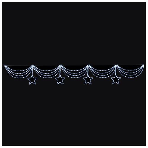 Luce festone stelle 576 led ghiaccio interno esterno 2