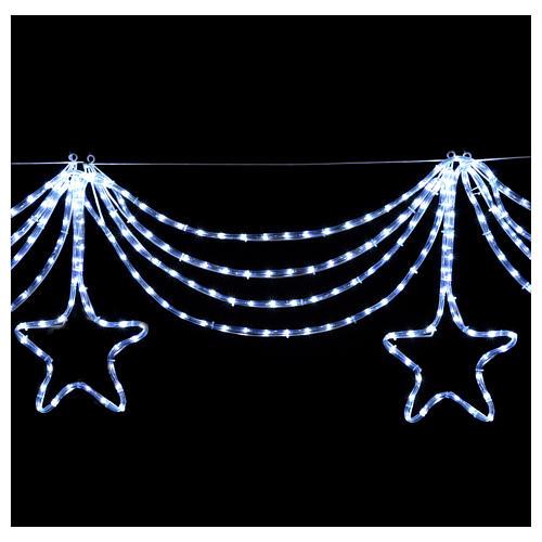 Luce festone stelle 576 led ghiaccio interno esterno 4