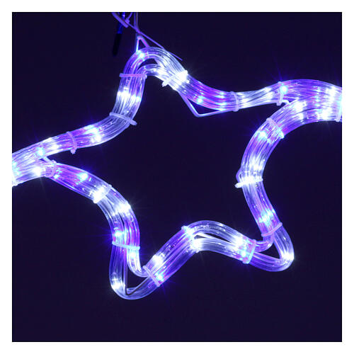 Christmas light with stars 240 white and blue leds internal and external use 3