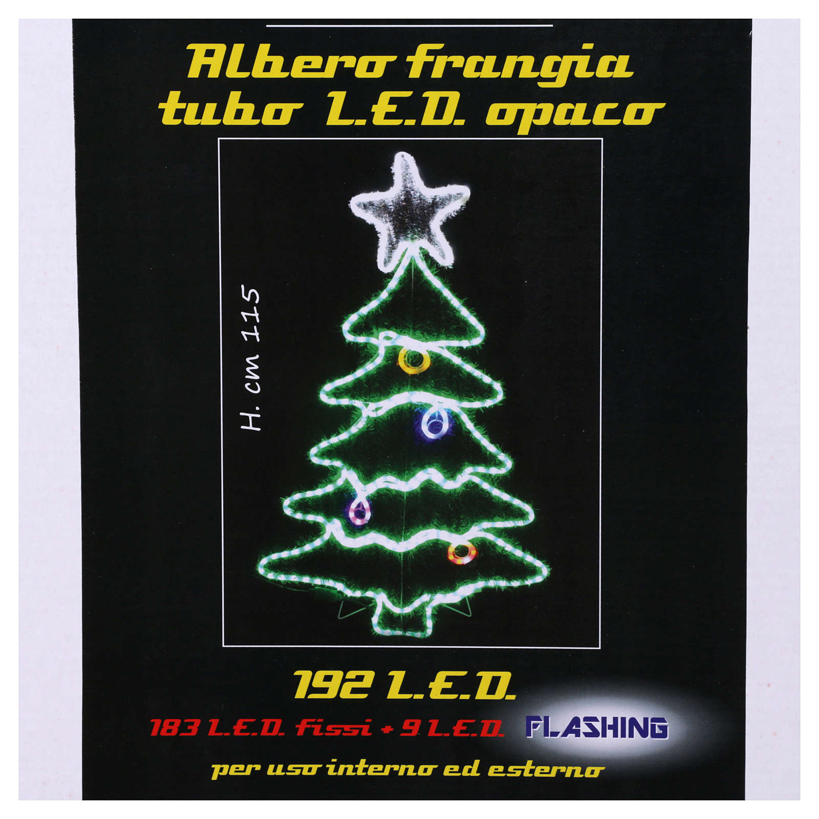 Christmas light cable 192 leds for internal and external use 3