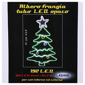 Luce Albero di Natale 192 Led interno esterno s7