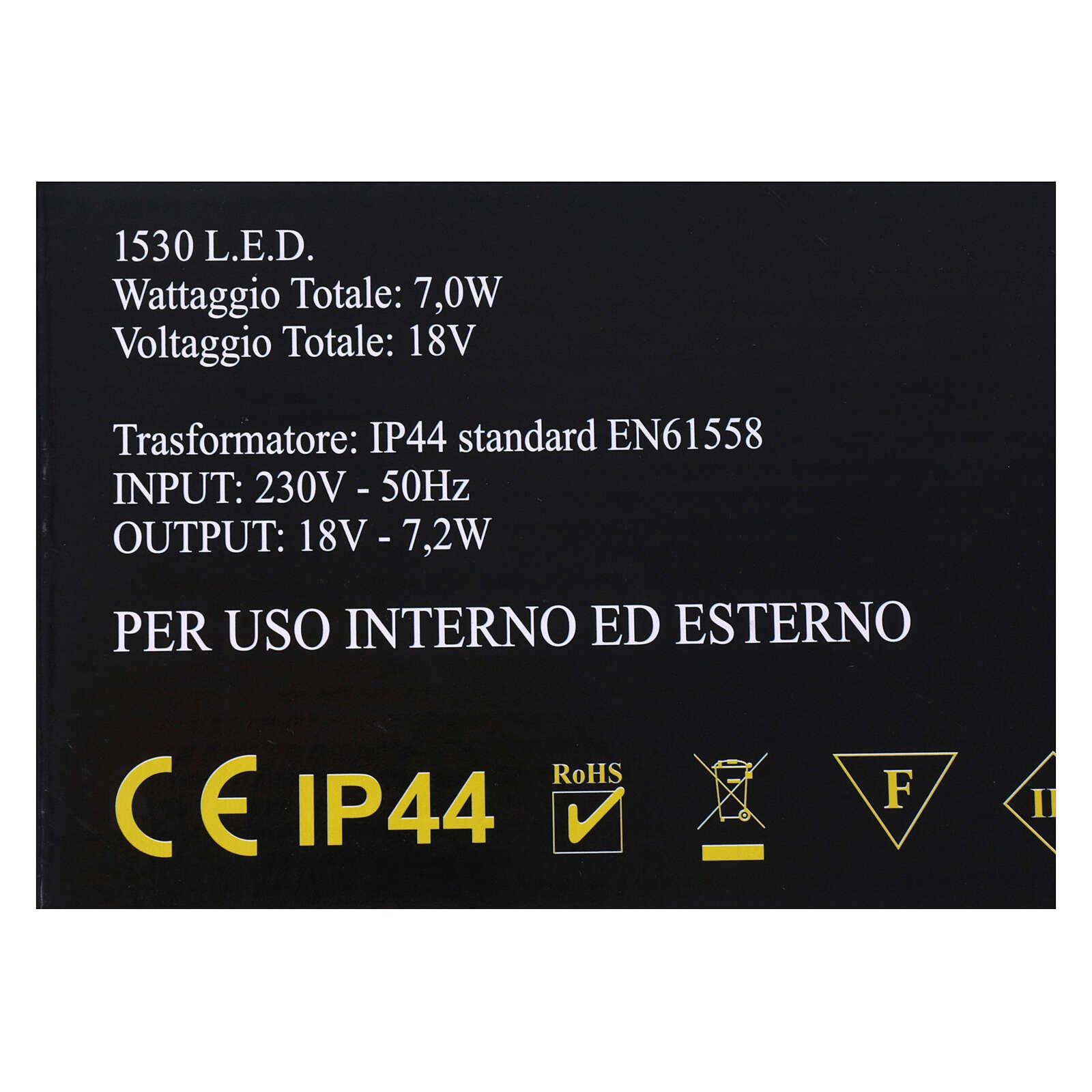 Illuminazione Cascata 1530 nanoled bianco caldo interno esterno 3