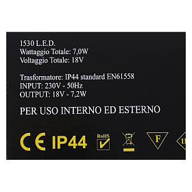 Illuminazione Cascata 1530 nanoled bianco caldo interno esterno s6
