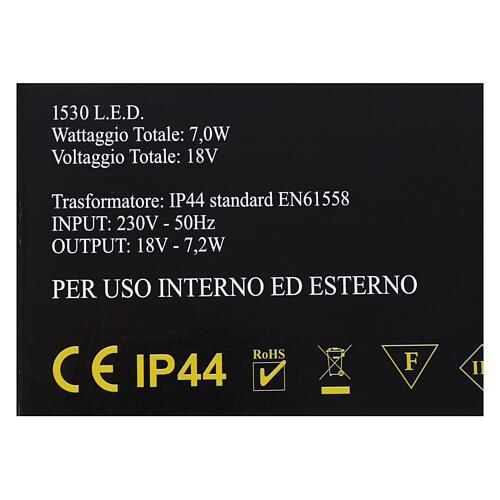 Illuminazione Cascata 1530 nanoled bianco caldo interno esterno 6