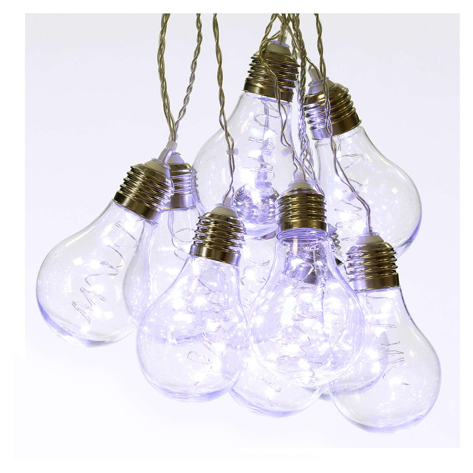 Lichter Vorhang 10 Glühbirne mit 60 Minileds kaltweiss 3