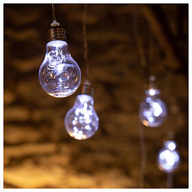 Lichter Vorhang 10 Glühbirne mit 60 Minileds kaltweiss s1