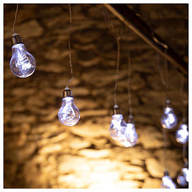 Lichter Vorhang 10 Glühbirne mit 60 Minileds kaltweiss s3