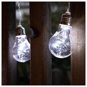 Lichter Vorhang 10 Glühbirne mit 60 Minileds kaltweiss s4