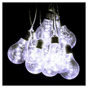 Lichter Vorhang 10 Glühbirne mit 60 Minileds kaltweiss s6