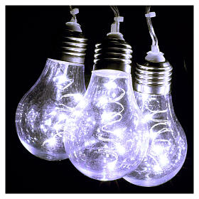 Lichter Vorhang 10 Glühbirne mit 60 Minileds kaltweiss s7