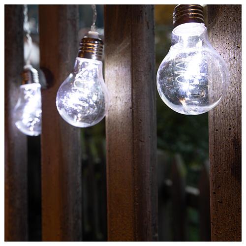Lichter Vorhang 10 Glühbirne mit 60 Minileds kaltweiss 2