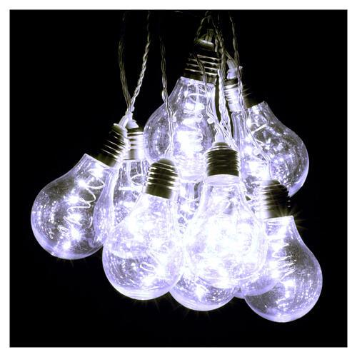 Lichter Vorhang 10 Glühbirne mit 60 Minileds kaltweiss 6