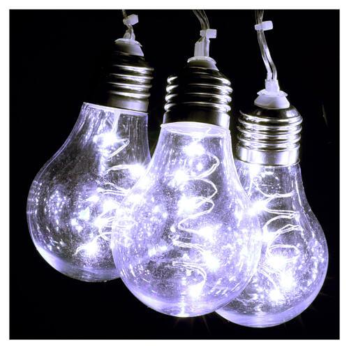 Lichter Vorhang 10 Glühbirne mit 60 Minileds kaltweiss 7