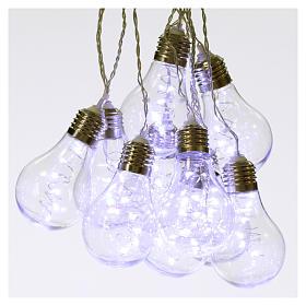 Illuminated light curtain 10 light bulbs 60 Nanoleds ice white internal and external use s1