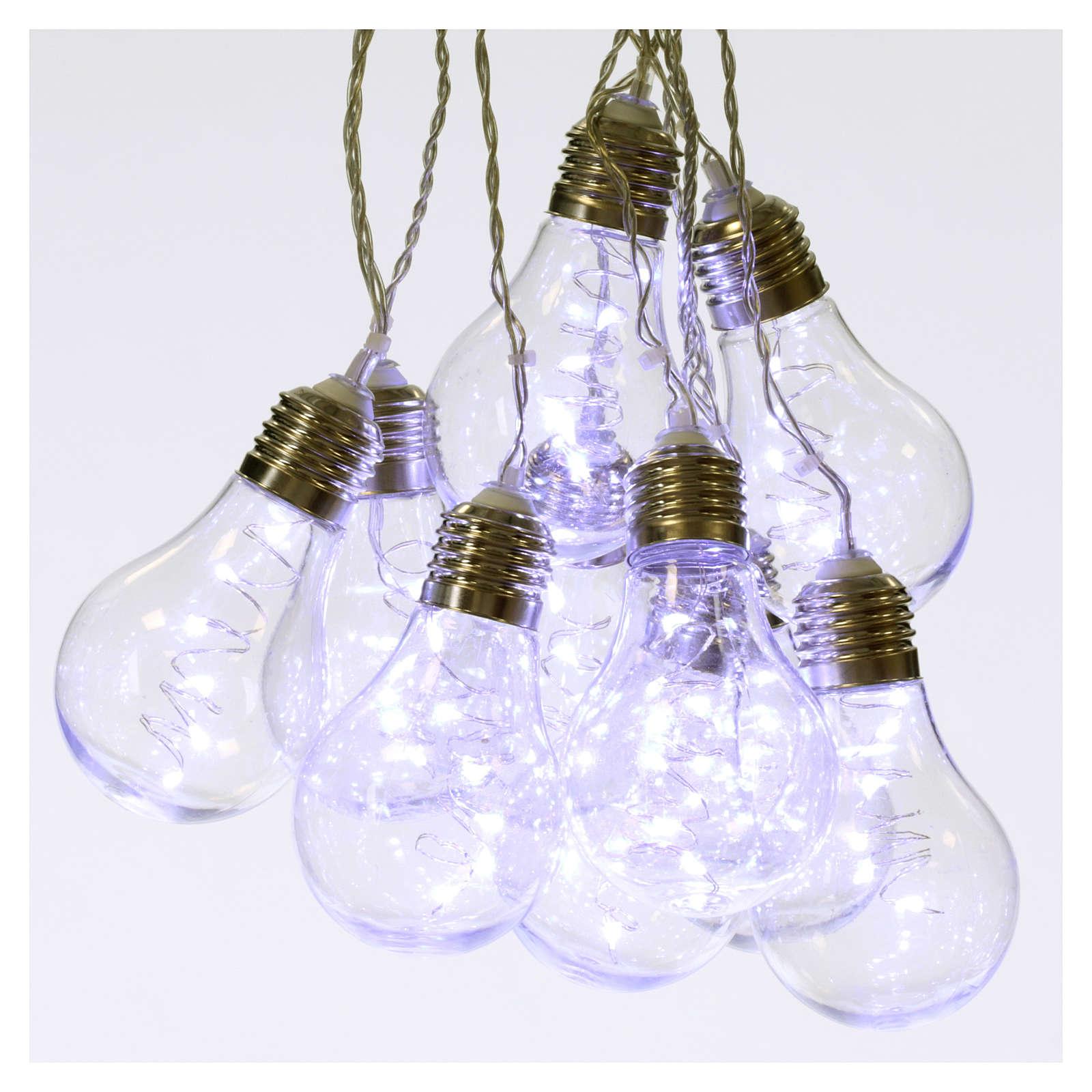 Rideau lumineux 10 ampoules 60 nano led glace intérieur extérieur 3