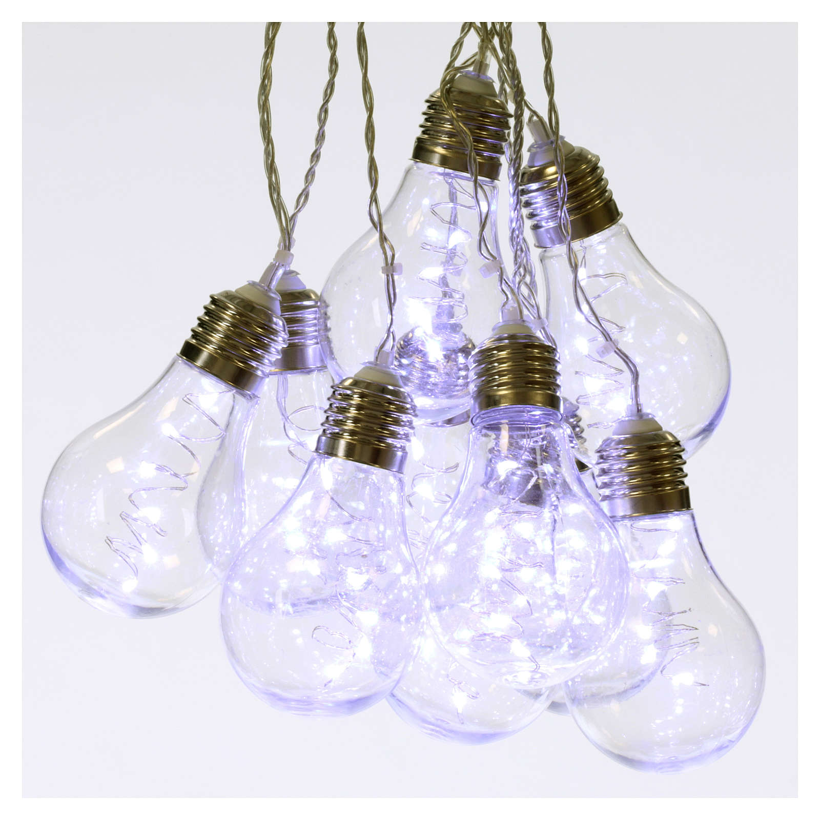 illuminated light curtain 10 light bulbs 60 nanoleds ice white internal and external use 3