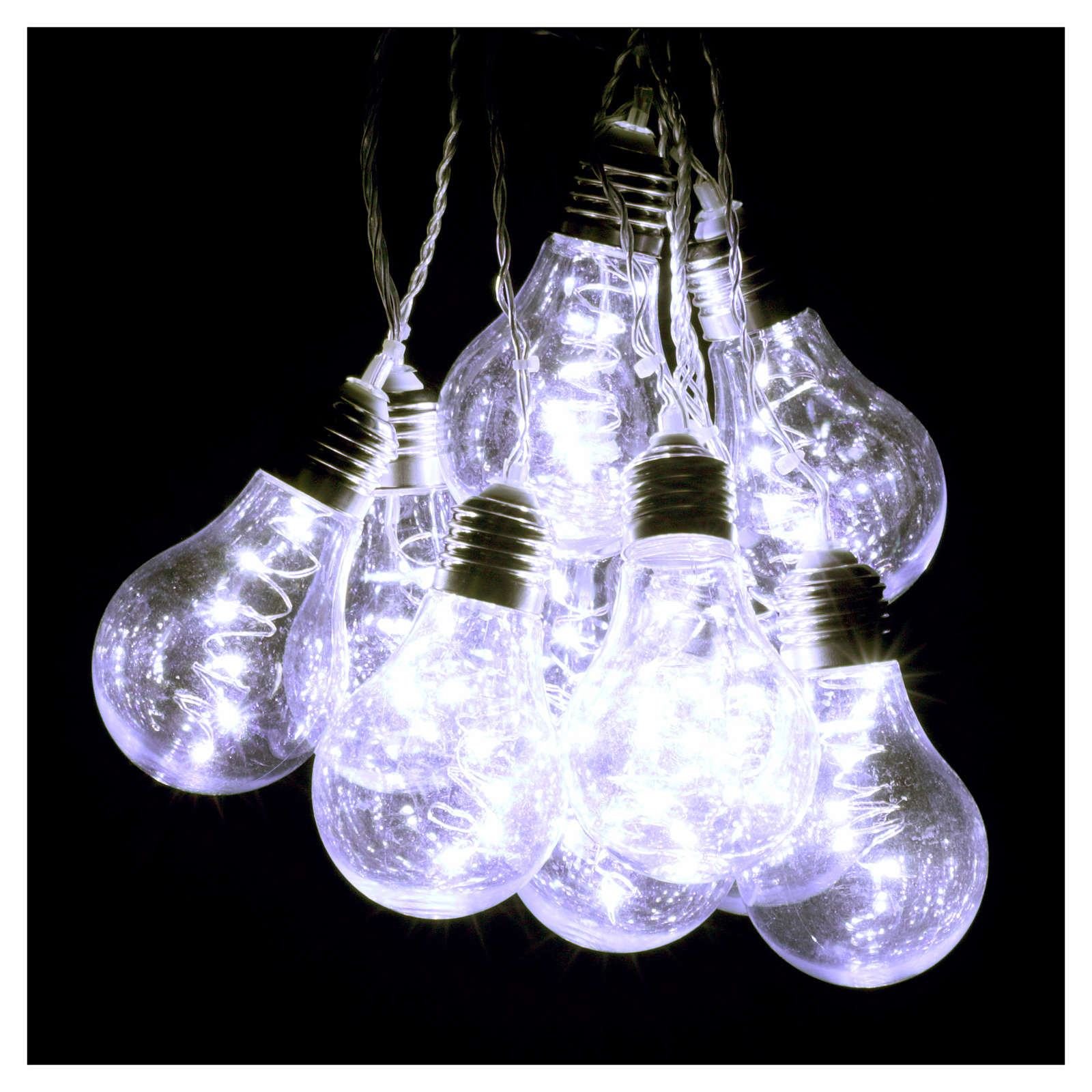 Illuminated light curtain 10 light bulbs 60 Nanoleds ice white internal and external use 3