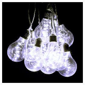 Illuminated light curtain 10 light bulbs 60 Nanoleds ice white internal and external use s2