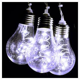 Illuminated light curtain 10 light bulbs 60 Nanoleds ice white internal and external use s3