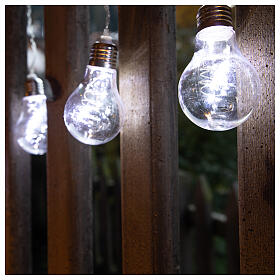 Illuminated light curtain 10 light bulbs 60 Nanoleds ice white internal and external use s2