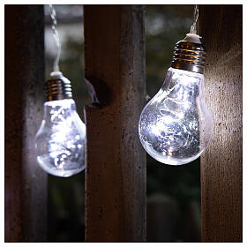 Illuminated light curtain 10 light bulbs 60 Nanoleds ice white internal and external use s4