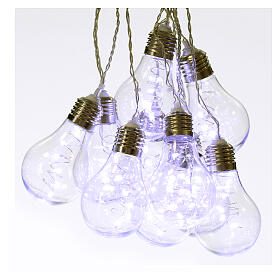 Illuminated light curtain 10 light bulbs 60 Nanoleds ice white internal and external use s5