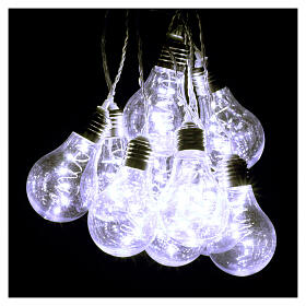 Illuminated light curtain 10 light bulbs 60 Nanoleds ice white internal and external use s6