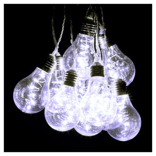 Illuminated light curtain 10 light bulbs 60 Nanoleds ice white internal and external use 2