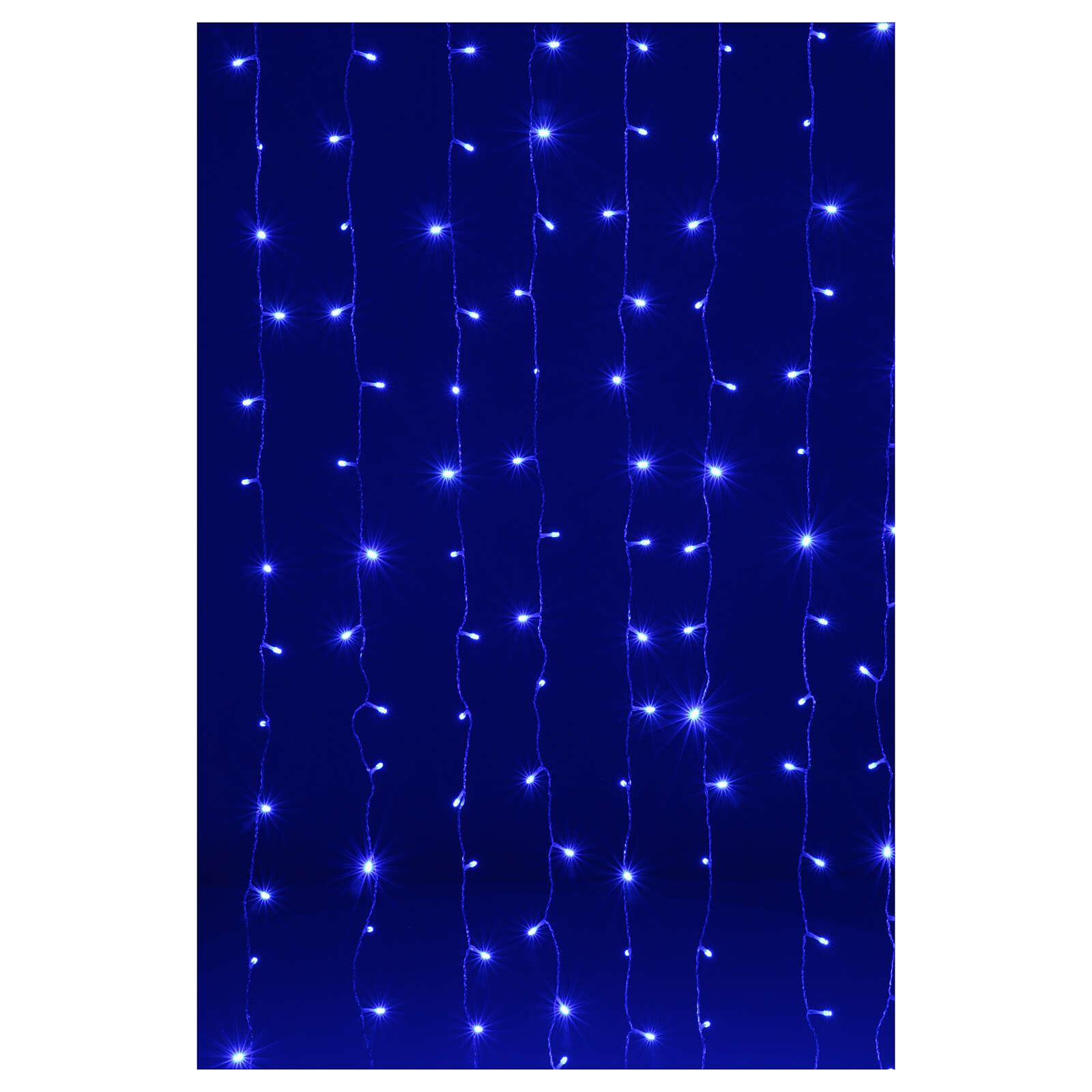 Illuminated curtain 200 leds fusion ice blue 3