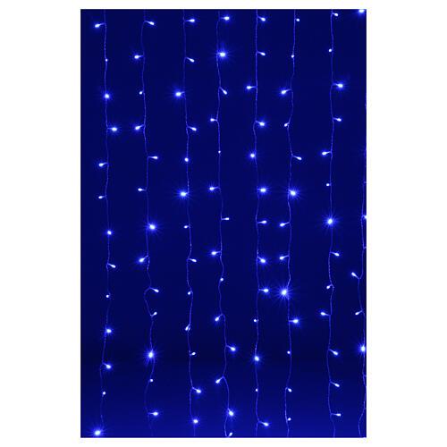 Illuminated curtain 200 leds fusion ice blue 2