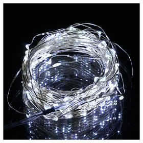Christmas lights 100 nano leds ice white bare wire internal use s2