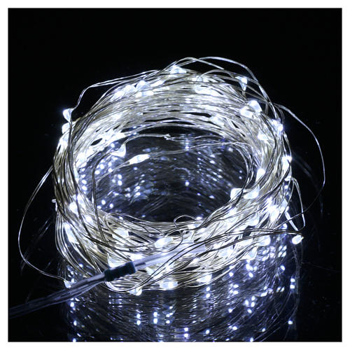 Christmas lights 100 nano leds ice white bare wire internal use 2