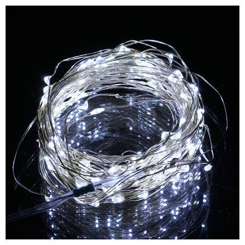 Luce 100 nano led bianco ghiaccio filo nudo uso interno 2