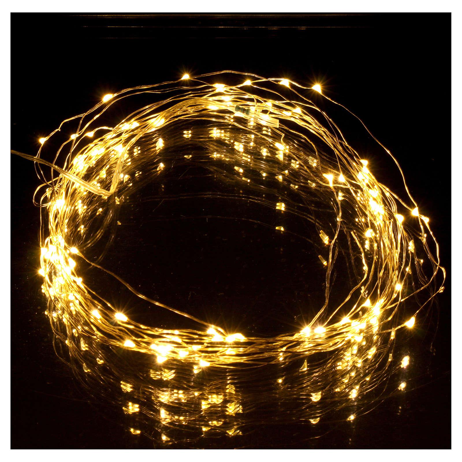 Illuminated wire 100 nano leds warm white internal use 3