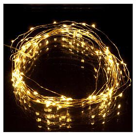 Illuminated wire 100 nano leds warm white internal use s1
