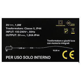 Illuminated wire 100 nano leds warm white internal use s3
