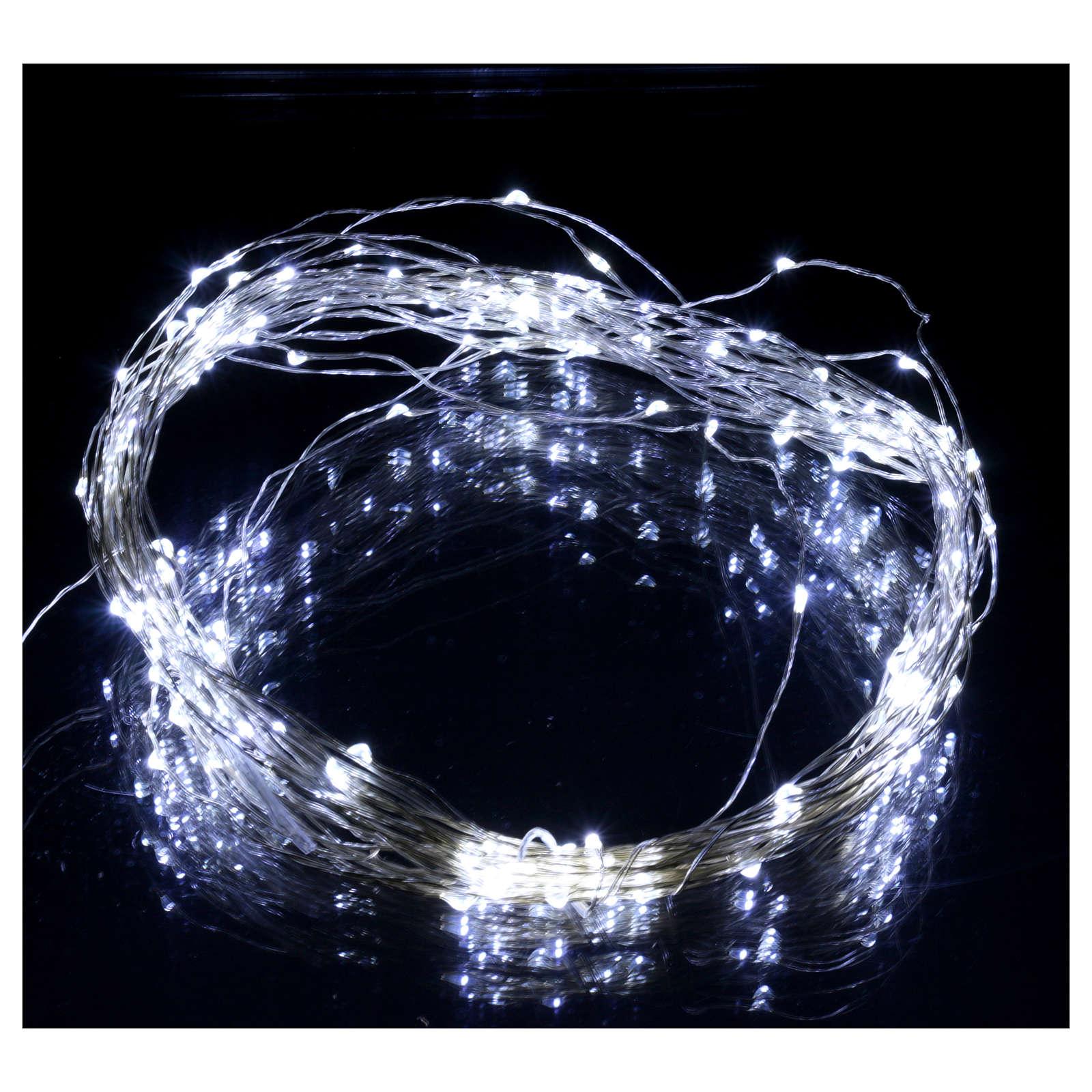 Luce natalizia 180 nano led ghiaccio solo uso interno 3